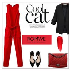 """""""ROMWE V/6"""" by amra-mak ❤ liked on Polyvore featuring Chanel, Zara, NYX, women's clothing, women, female, woman, misses, juniors and romwe"""