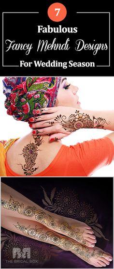 7 Fabulous Fancy Mehndi Designs For Wedding Season