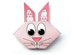 Tête de lapin en origami