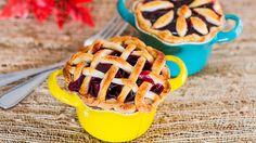 Make these mini gluten-free cherry pies for dessert.