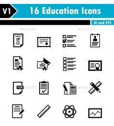 Education Icons - Web Icons