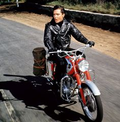 "Elvis Presley made this leather jacket cool in the 1964 movie ""Roustabout."" This and other leather jackets are on display in the ""Worn to be Wild"" exhibit."
