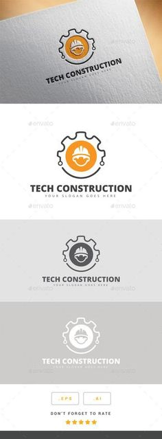 Tech Construction Logo. This is good because it shows the industry of our clients (construction, engineering, cleaning), and also suggests closing the circle, or Bright Circle completing their project