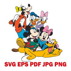 Clipart, SVG Clipart, Disney Clipart, Mickey Mouse PNG, Cartoon characters, SVG Disney Clipart, Cut File, Cricut Svg, Png, Eps, Pdf, Jpg