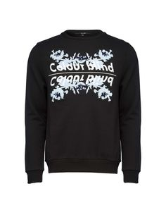 Rackare sweatshirt - Men's sweatshirt in cotton-blend. Featuring text with seasonal floral embroidery at front. rib at cuffs, neck and bottom hem. Men's Sweatshirts, Hoodies, Tiger Of Sweden, Floral Embroidery, Cuffs, Fit, Sweaters, Cotton, Fashion