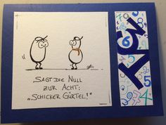 Geburtstagskarte Gürtel. Birthday Card Belt. Witz. 31.