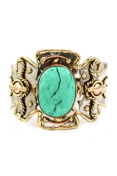 Turquoise Delphine Statement Cuff | Awesome Selection of Chic Fashion Jewelry | Emma Stine Limited
