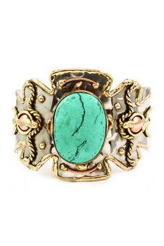Turquoise Delphine Statement Cuff on Emma Stine Limited