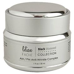 cool Face Cream - Anti Wrinkle Complex By Lilian Fache - Skin Care For AM/PM - Black Diamond Dust Infused - Beauty Skin Care Product - Skin Rejuvenation - Wrinkle and Fine Line Prevention - Collagen Restoring - Try This One of a Kind Anti Aging Wrinkle Complex With Confidence - 1oz./30ml