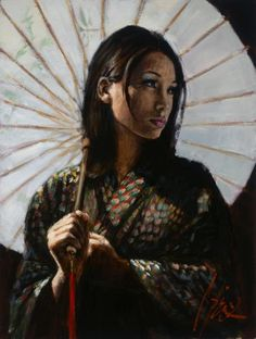 fine artistic geisha art | ... Perez | Fabian Perez Art & Paintings | Fabian Perez Artist Originals