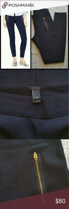 "J.Crew Paneled Pixie pant with zip pockets Like new Measures waist 13 1/2"" rise 9"" inseam 31"" J. Crew Pants Leggings"