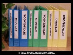 Fern Smith's FREE Editable Teacher Notebook Binder Labels at Classroom Freebies