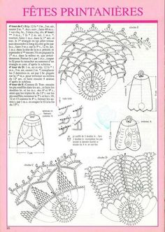 Crochet everything. Crochet Diagram, Crochet Chart, Thread Crochet, Crochet Doilies, Crochet Flowers, Filet Crochet, Crochet Christmas Ornaments, Crochet Snowflakes, Christmas Bells