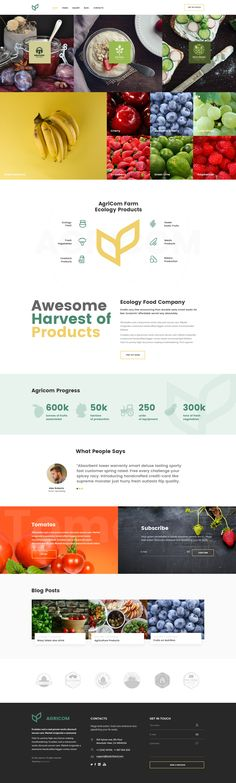 Flexible, Dynamic, Trustworthy!  Agricom provides one page and multipages Responsive HTML5 Agriculture and Organic Food Theme. Minimalist Flat Design. Highly customizable ...