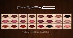 "Lana CC Finds - ""Autumn"" Matte Lip Collection by MAC"