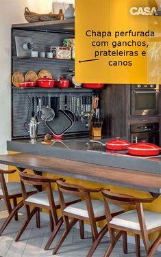 chapa perfurada para objetos na cozinha