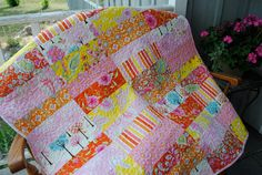 Amy Butler Soul Blossoms Baby or Toddler Quilt by cachecreekquilts