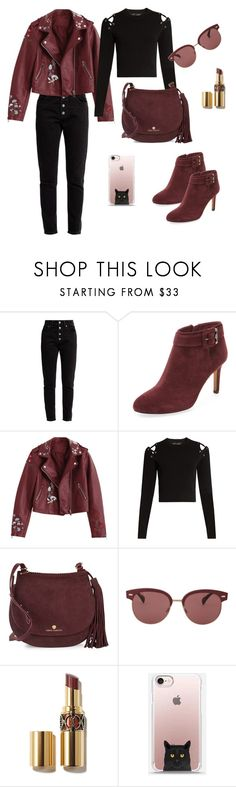 """""""Burgundy & Black Fall Outfit (#27)"""" by nazanin-mk ❤ liked on Polyvore featuring Balenciaga, Vince Camuto, Proenza Schouler, Oliver Peoples, burgundy, fashiontrends, fallfashion, falloutfit and suedeboots"""