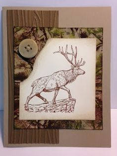 The Wilderness Awaits, Masculine Card, Camouflage Technique, Stampin' Up!, Rubber Stamping, Handmade Cards