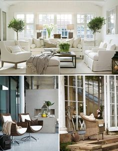 Haus Design: Neutrals: What Makes Them Pop? Living Spaces, Living Rooms, Family Rooms, Furniture Arrangement, Living Room Inspiration, Great Rooms, Outdoor Furniture Sets, Interior Design, House Styles
