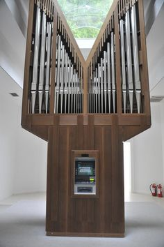 Jennifer Allora and Guillermo Calzadilla's ATM Organ work at the American Pavilion, Venice Biennale, 2011.