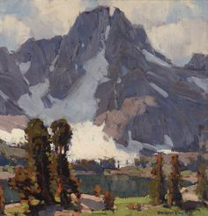 "EDGAR PAYNE High Sierras Oil on Board16"" x 15.75"