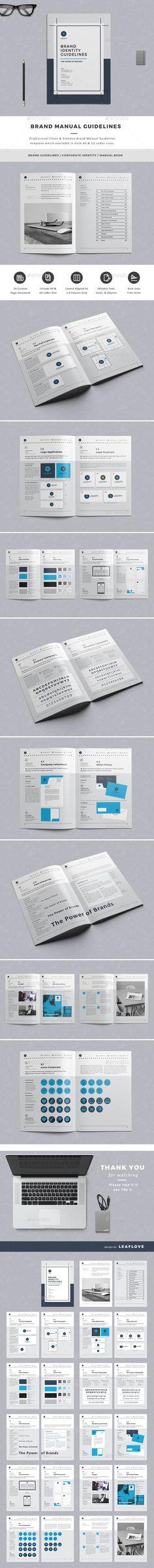 Brand Manual and Identity Template u2013 Corporate Design Brochure - operating manual template