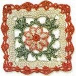 Lace Crochet Square with 4 Petal Flower ⋆ Crochet Kingdom