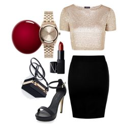 """""""Night life"""" by hope-gonsalves ❤ liked on Polyvore featuring NARS Cosmetics, Topshop, Zara and Nixon"""