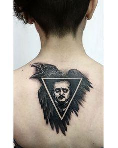 Edgar Allan Poe and the Raven tattoo