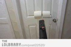 Toilet Paper Leaf Blower Ambush