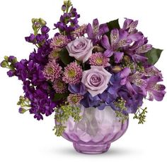 Lush and Lavender with Roses Flowers, Lush and Lavender with Roses Flower Bouquet Lavender Flowers, Fresh Flowers, Purple Flowers, Red Roses, Beautiful Flowers, Send Flowers, Funeral Flowers, Wedding Flowers, Large Flower Arrangements