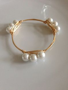 The Lucille gold bauble bangle by LuELsDecor on Etsy