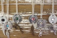 shotgun necklace bullet necklace bullet by SouthernTouchDesigns Bullet Shell Jewelry, Shotgun Shell Jewelry, Bullet Casing Jewelry, Ammo Jewelry, Diy Jewelry Necklace, Wire Jewelry, Jewelry Crafts, Bullet Necklace, Necklaces