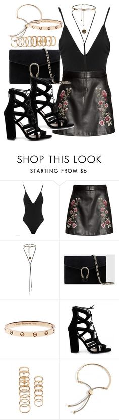 """Untitled #5285"" by angela379 ❤ liked on Polyvore featuring Gucci and Forever 21"