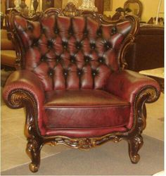 Victorian Leather Chair For The DEN!