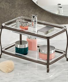 Loving this York Lyra Double Vanity Tray. I would use this next to my sink in the kitchen! #kitchenorganization