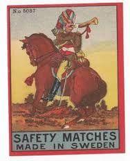 HORSE RIDER SAFETY MATCHES SWEDENHästryttare säkerhetständstickor SVERIGE