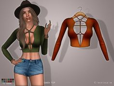 Sims 4 CC's - The Best: GWEN top by Cleotopia