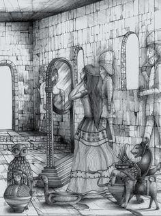 Dido para Eneas: Soñé con mi príncipe de niebla. Ilustración de Omar Urbano