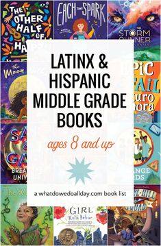 Books list featuring Latinx and Hispanic characters in middle grade books. A diverse book list filled with fantasy, contemporary and historical stories. Best Books List, Book Lists, Book Suggestions, Book Recommendations, Best Children Books, Childrens Books, Library Books, Kid Books, Math Books