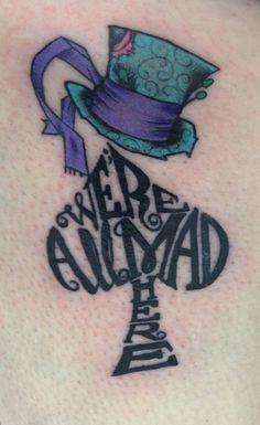 150+ Charming Alice in Wonderland Tattoo Designs nice