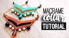 Collar chevron ♥︎ macrame tutorial | como hacer | diy ● Necklace #choker #gargantilla #collar #pulsera #bracelet #friendshipbracelet #bracelets #macrame #hiloencerado #colores #artesania #artesana #diy #doityourself #comosehace #comohago #hazlotumismo #tutorial #tutoriales #manualidades #manualidad #temuco #chile #youtuber #facil #easy #quick #rapido #gift #idea #comohacer #aros #earrings #howto #hippie #chic
