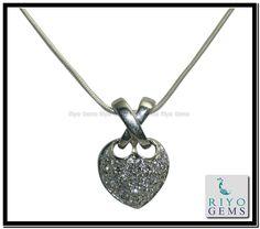 Cubic Zirconia Silver pendant Gemstone Jewelry 925 Sterling Silver Jewelry by Riyo Gems Handmade Jewellery http://www.riyogems.com