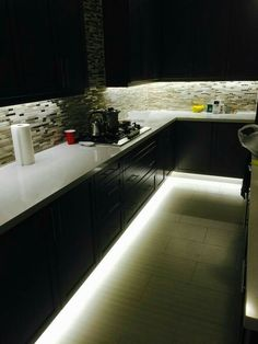 led kitchen lighting. Under Cabinet And Footwell Led Strip Lighting  Also Hidden Counter Top Receptacles Motion Sensor LED Light With Auto Shut Off For Under The Bed No