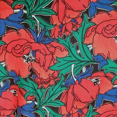 Liberty of London Fine Wool Challis Print Material 50 x Liberty Of London Fabric, Vintage Textiles, Vintage Items, Wool, Sewing, Pattern, Handmade, Art, Art Background