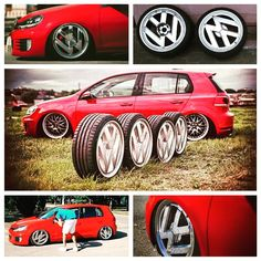 "There are some pretty impressive one-off wheels floating around at the moment but @sharifov's 19"" VW logo show hoops are up there with the most unique. Would ya?"