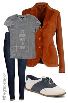 """""""Kickback Style #GraceStyles"""" by graciep0o on Polyvore featuring Tagliatore, H&M, Talula and Sperry Top-Sider"""