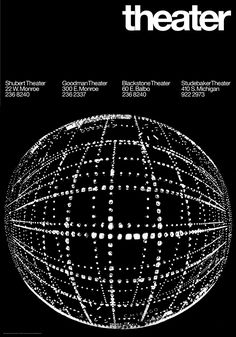 Theater, poster by Giulio Cittato for Container Corporation of America's Chicago Cultural Communication Project, 1966