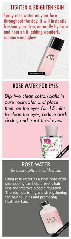 Rose water Just incorporated this in my daily beauty routine.- Rose water Just incorporated this in my daily beauty routine and it feels great!… Rose water Just incorporated this in my daily beauty routine and it feels great! Belleza Diy, Tips Belleza, Beauty Care, Beauty Skin, Beauty Secrets, Beauty Hacks, Diy Beauty, Hair Care, Daily Beauty Routine